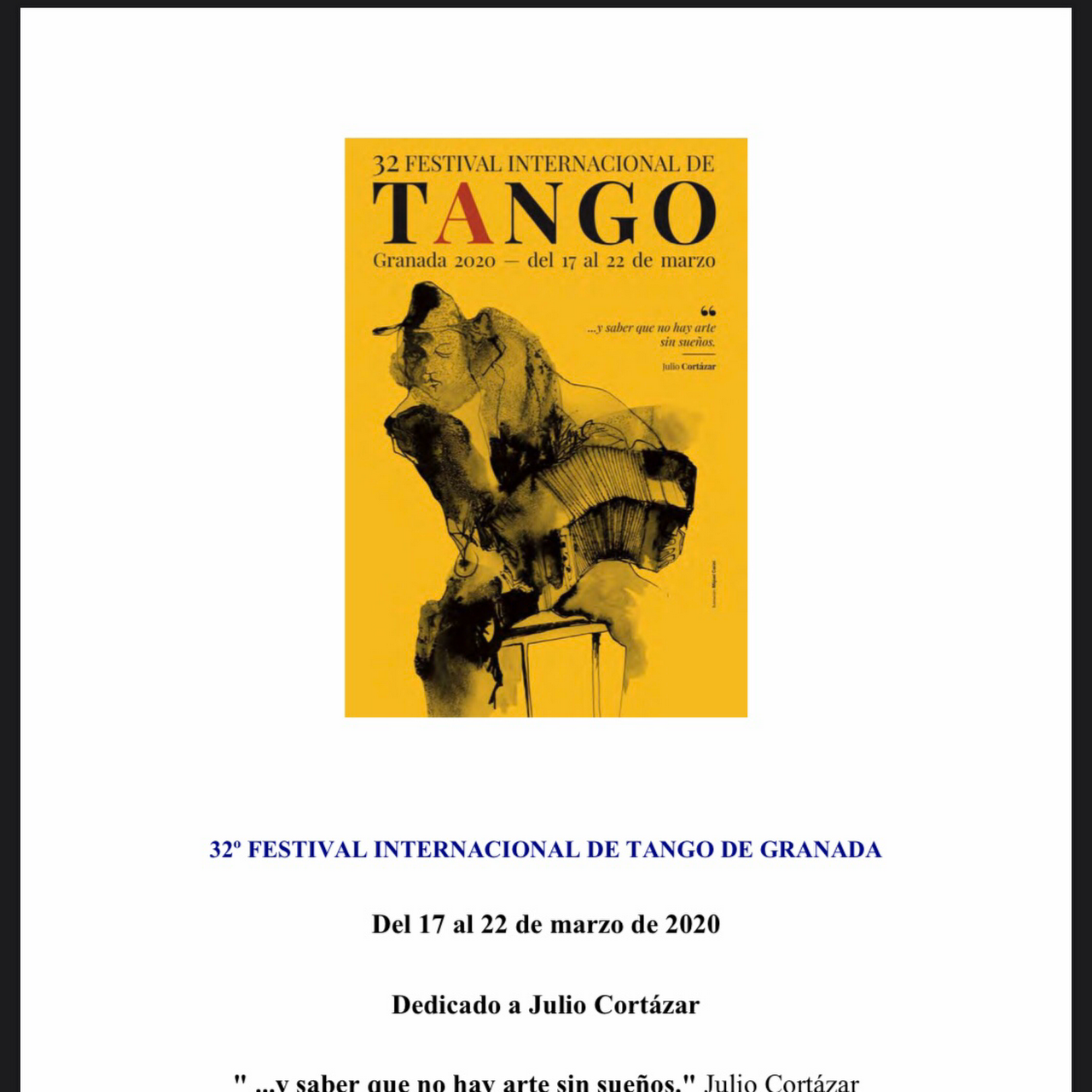 The Granada International Tangofestival 2020